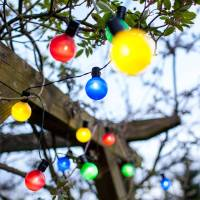 multi coloured solar party lights by lights4fun ...