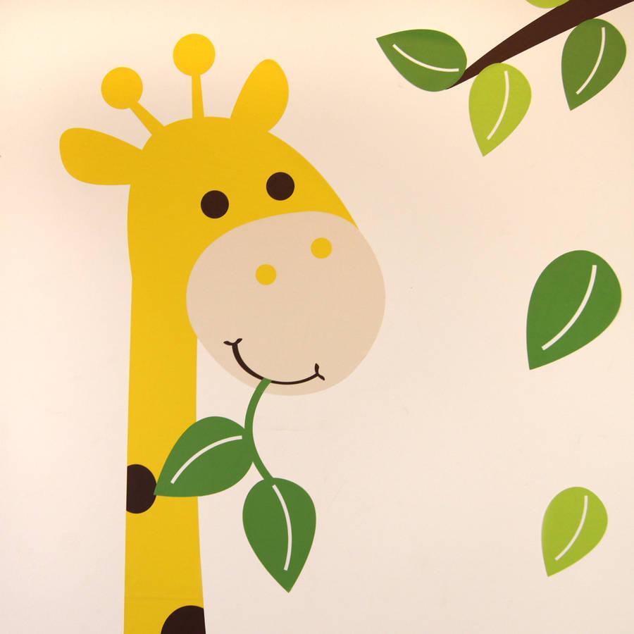 Giant Giraffe Wall Stickers For Children | iltribuno.com