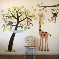 animals and tree wall sticker by parkins interiors ...