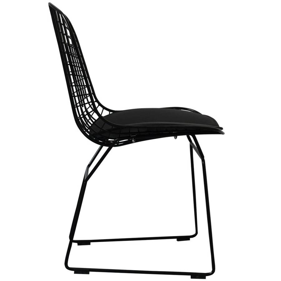 wire mesh dining chairs uk foldable long sofa chair marvelous interior images of homes a black metal also in silver or white by outdoor set