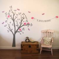 personalised bird's nest tree wall stickers by parkins ...