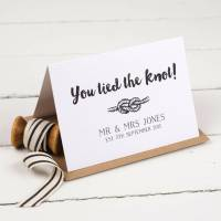 personalised tie the knot wedding card by nina thomas ...