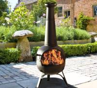 chiminea patio heater and grill by oxford barbecues ...