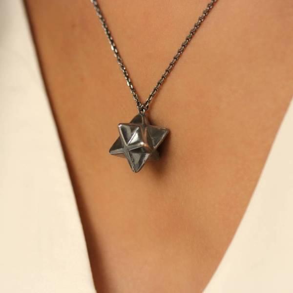 Merkaba Star Necklace Emily Margaret Hill Jewellery