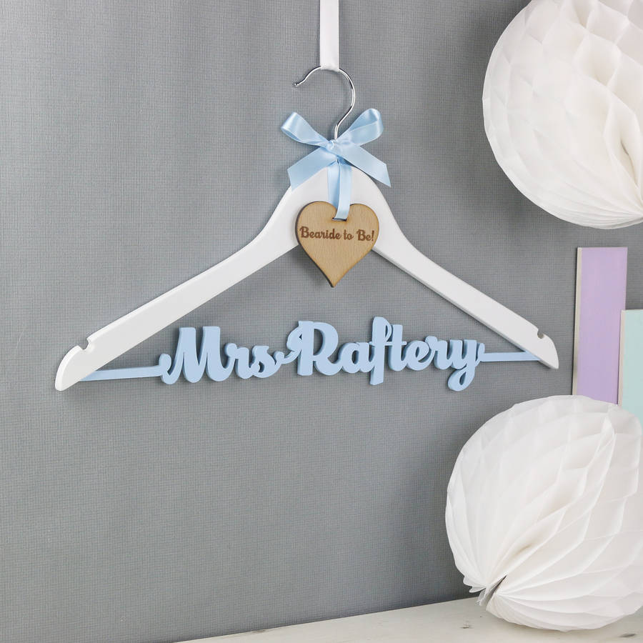 personalised theme colour wedding dress hanger by no