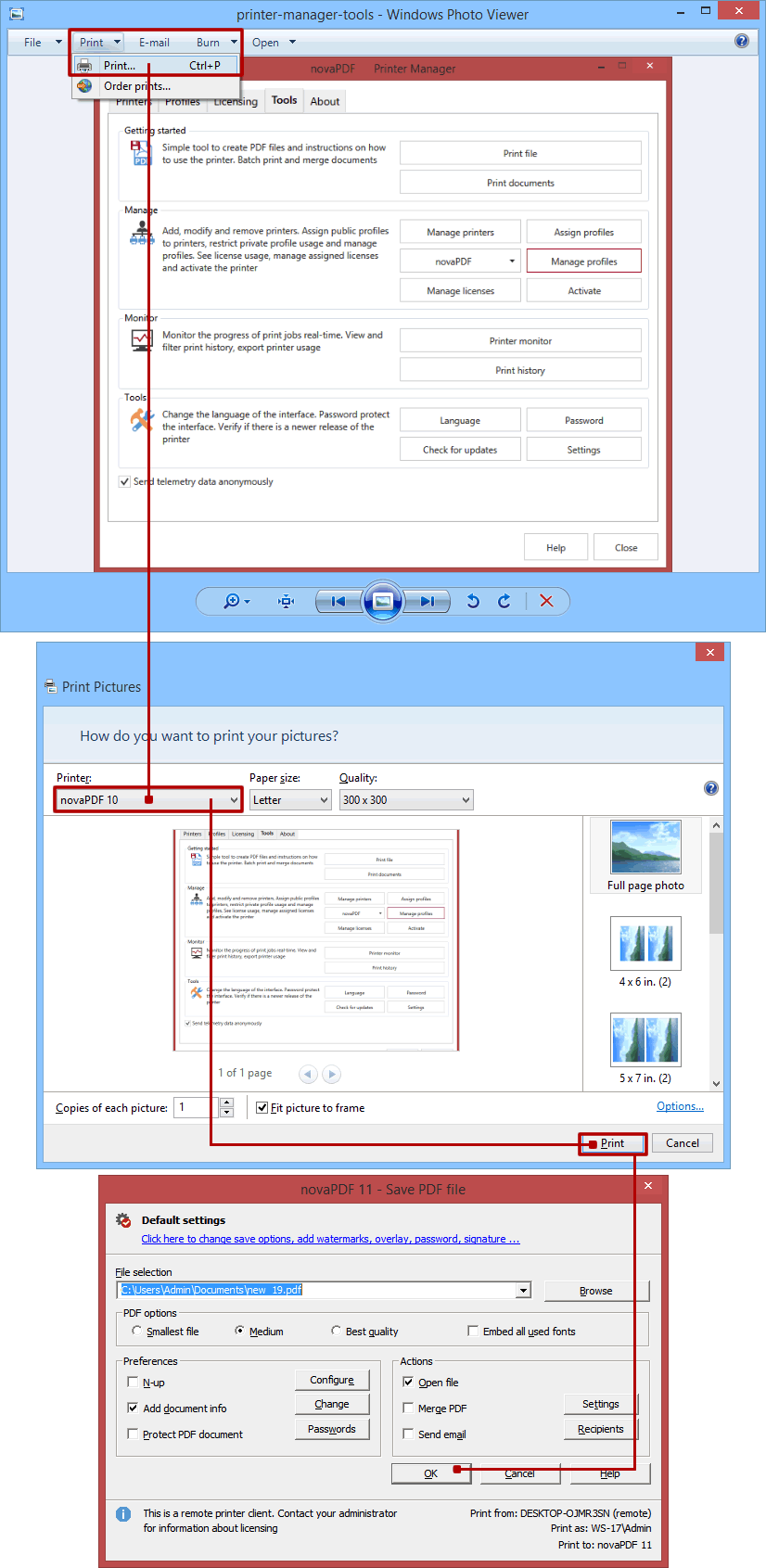 Convert JPG to PDF (or other image formats to PDF) - novaPDF