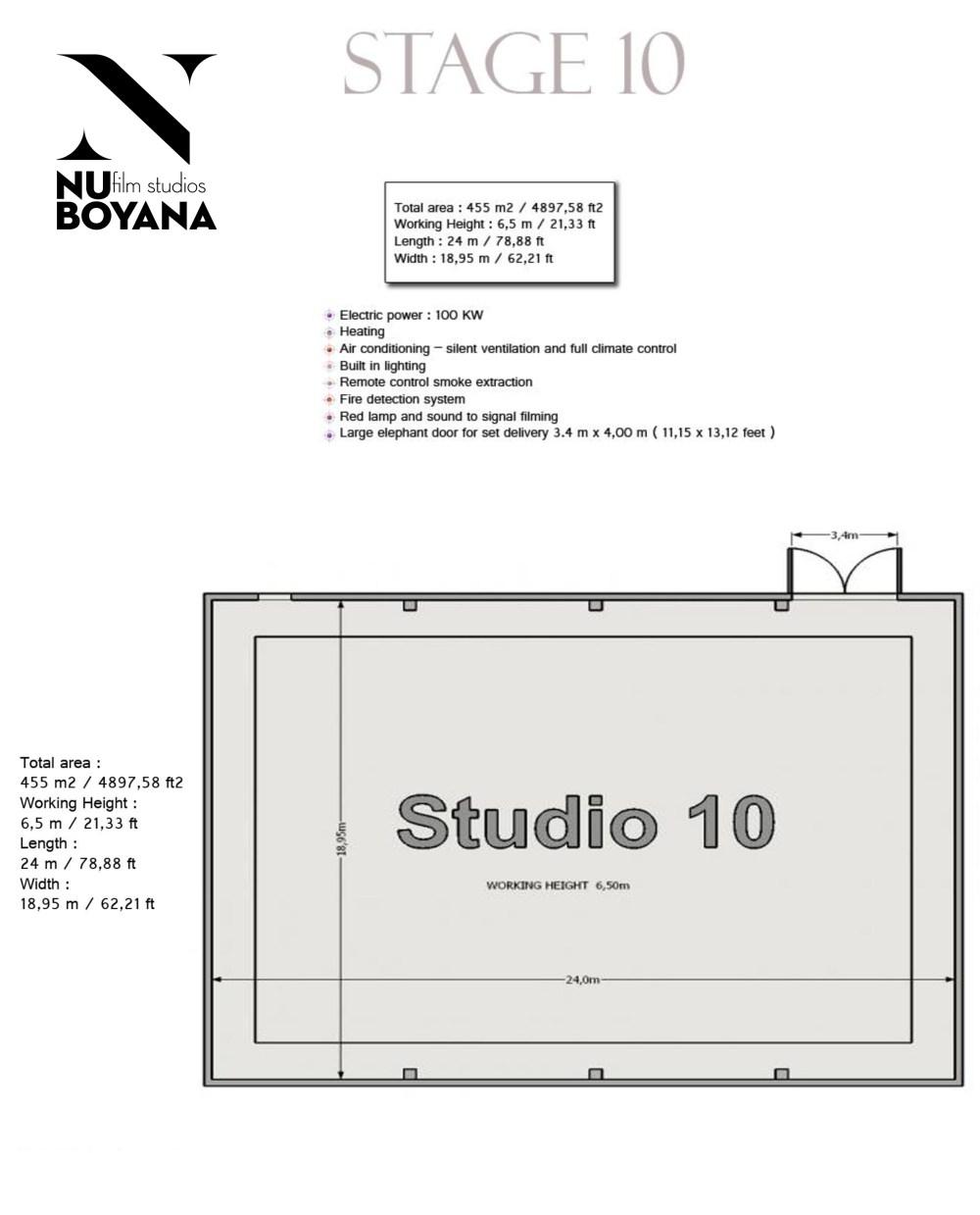 medium resolution of sound stage 10 455m2