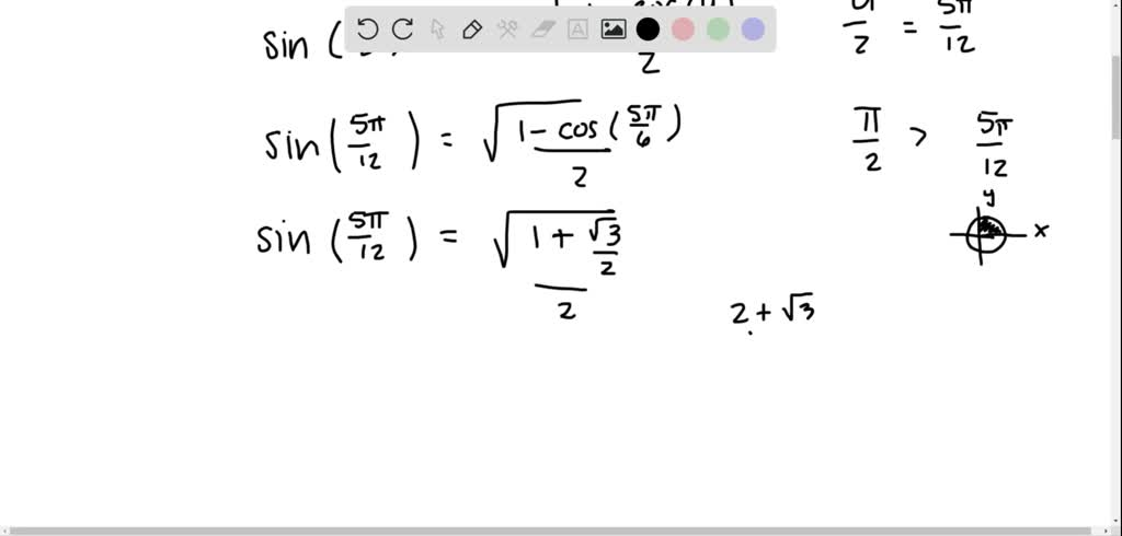 Use the half-angle formulas to solve the given pr…