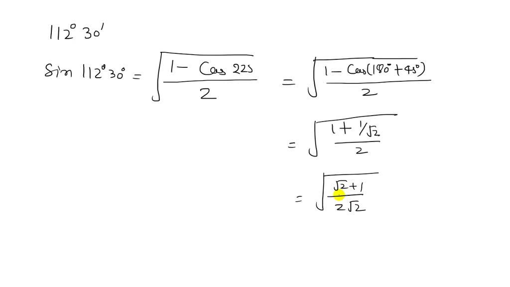 Use the half-angle formulas to determine the exac…