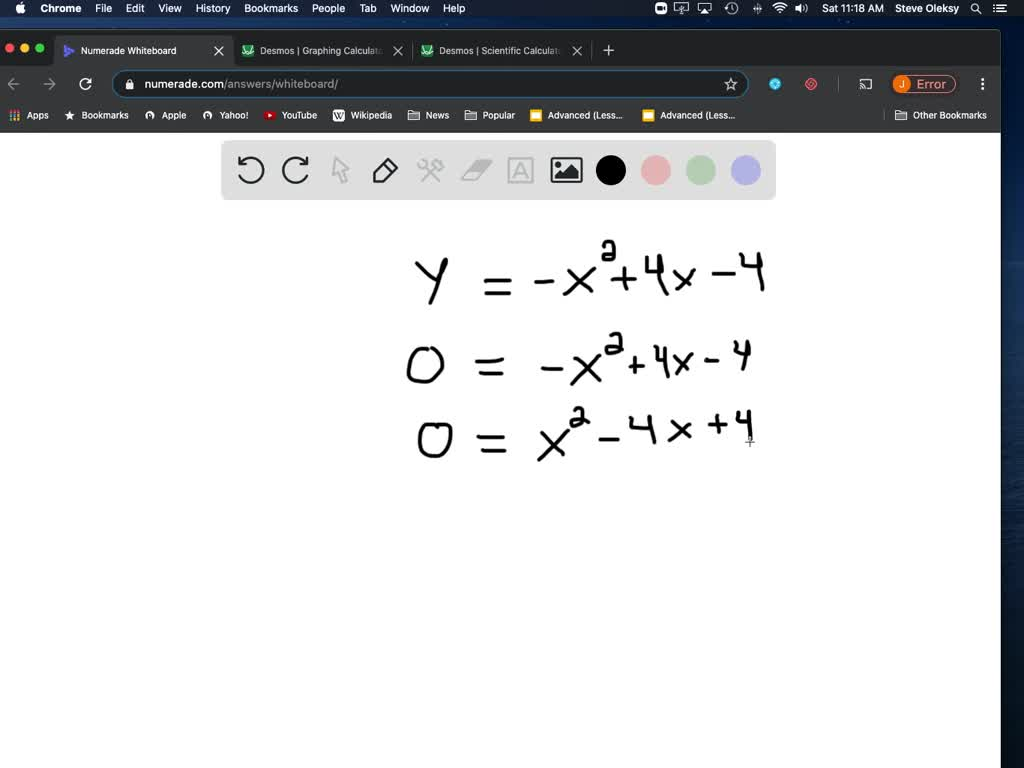 Find Any X Intercepts And The Y Intercept If N