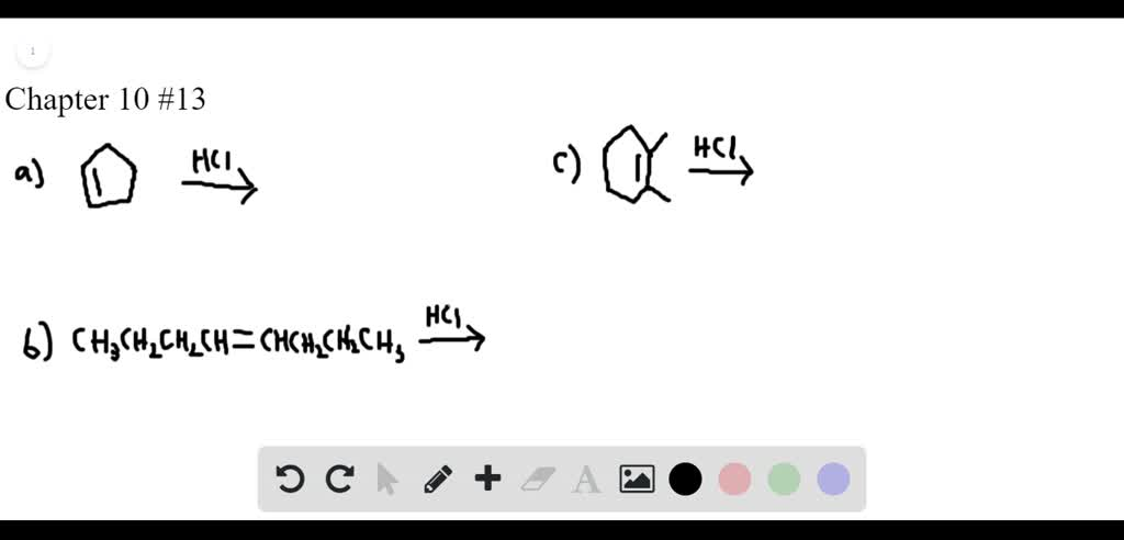 SOLVED:What product is formed when each alkene is…