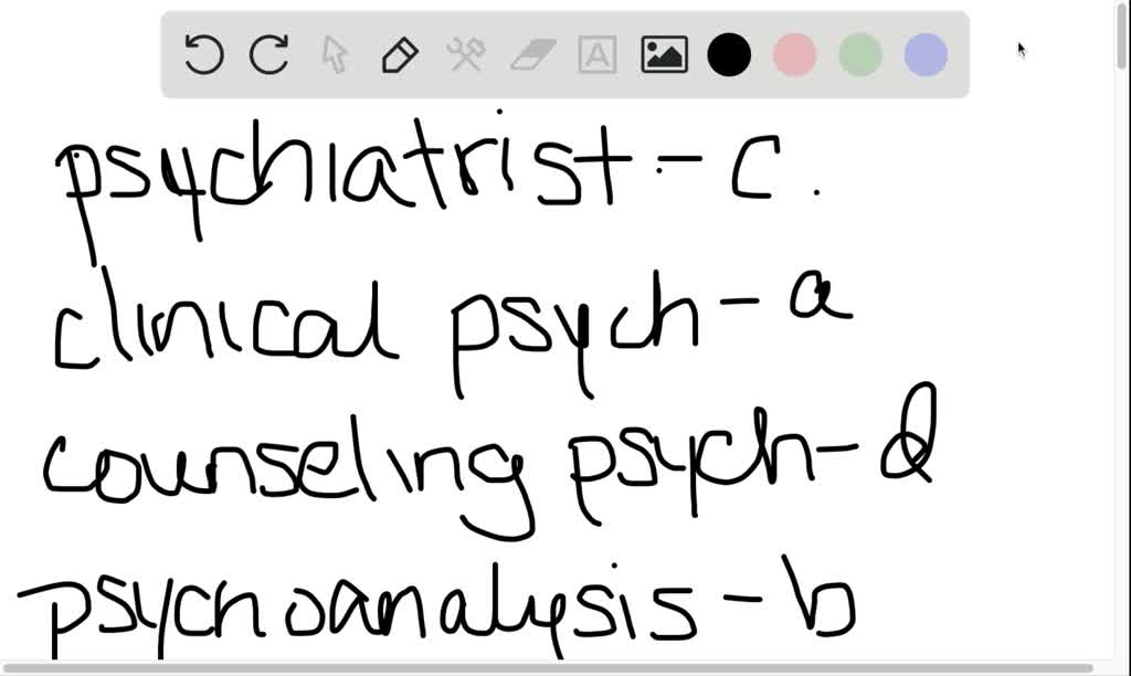SOLVED:Match the following mental health practiti…