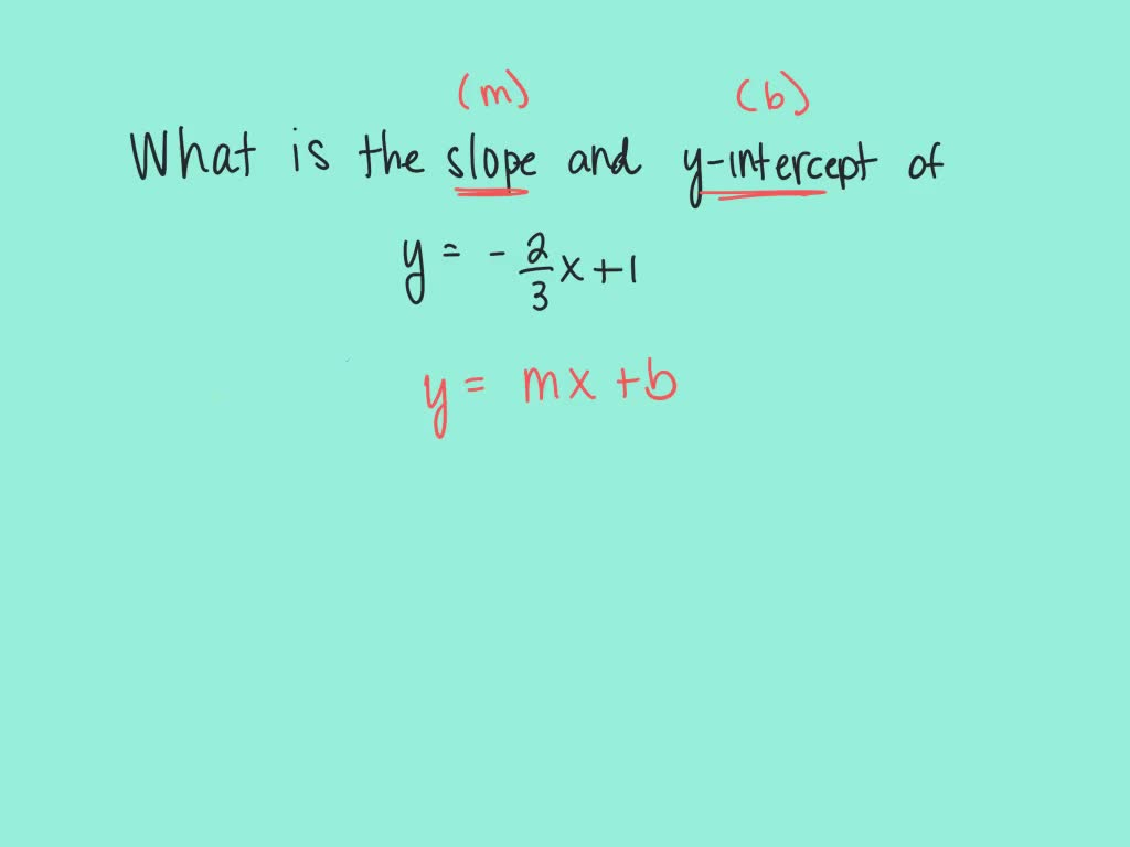 Find The Slope And Y Intercept Of The Graph Of T