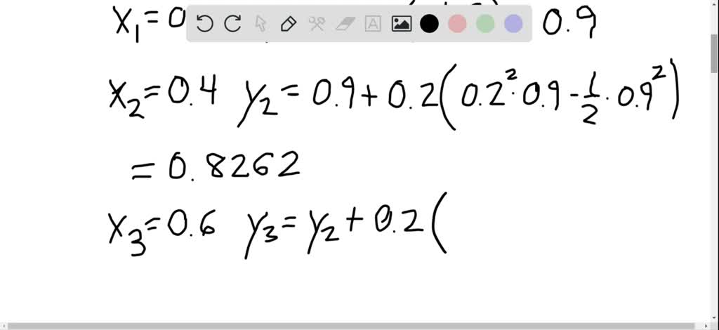 For y^{\prime}=2 y-3 x-4, use Euler's method with…