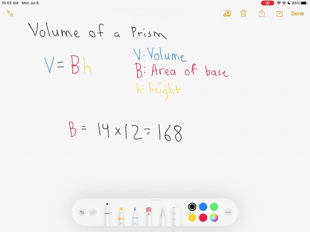 SOLVED:Find the volume of each prism or cylinder.…