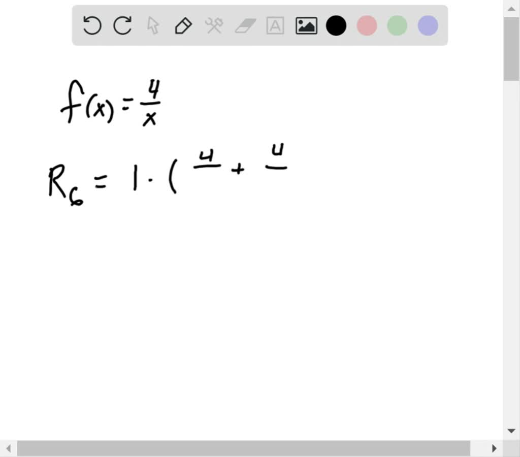 Solved Using Rectangles Approximate The Area Of T