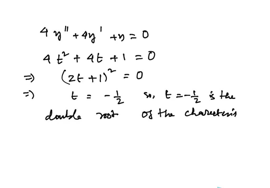 SOLVED:Solve the differential equation. 4y'' + 4y…