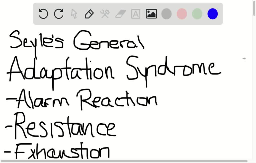 SOLVED:Selye's general adaptation syndrome (GAS)