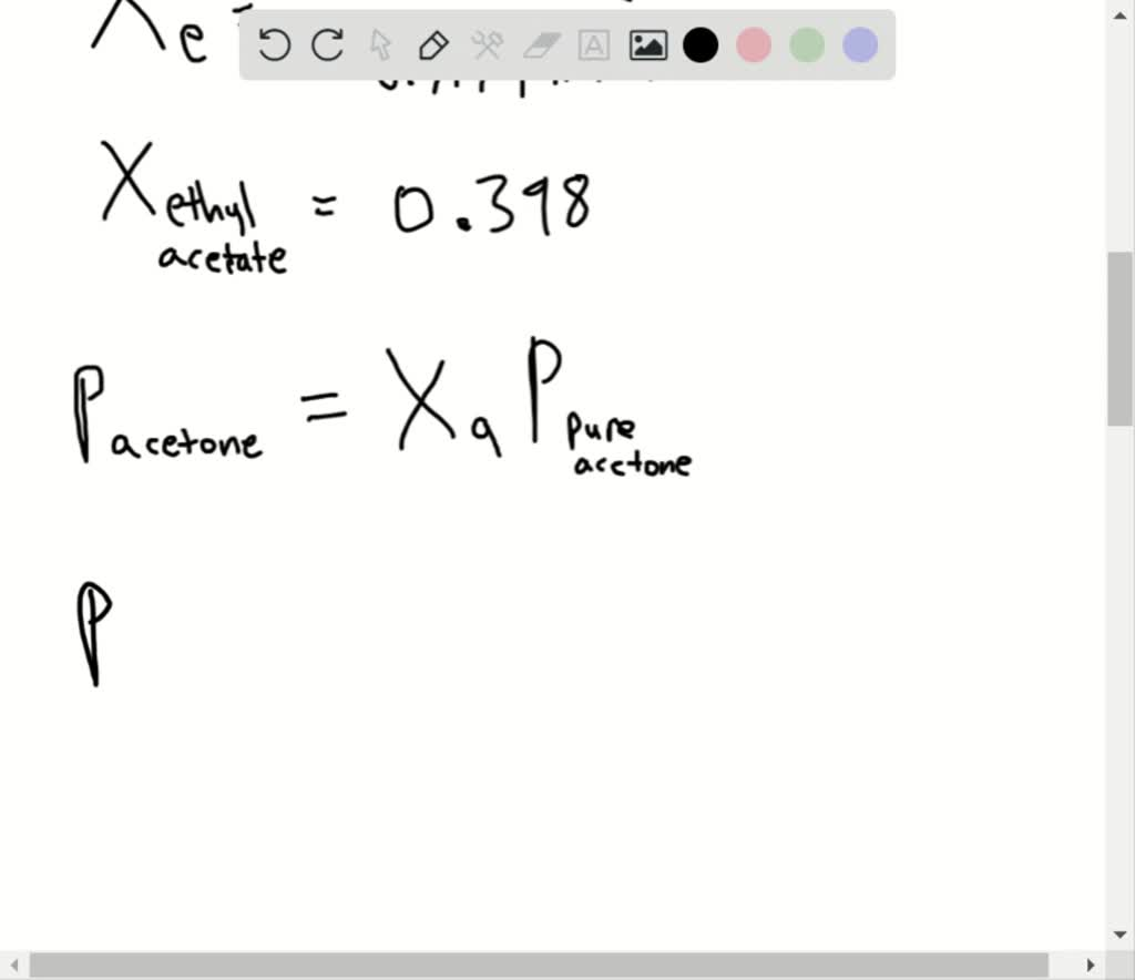Solved What Is The Mole Fraction Of Each Componen