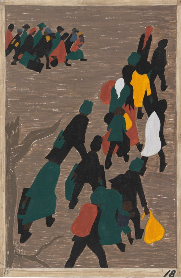 Jacob Lawrence Migration Series Paintings