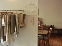 At Sing Blackbird, café patrons sit a few steps from the vintage clothes for sale.