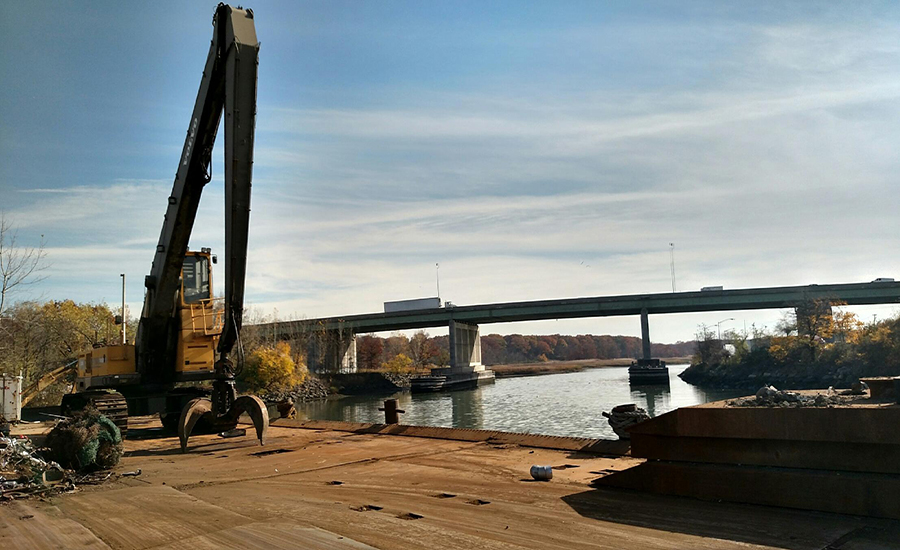 STREAMLINED: The Hutchinson River, as seen from Pascap Scrapyard. Photo Credit: George Goss