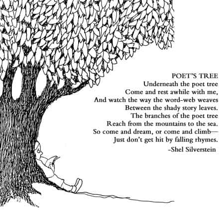 "Shel Silverstein poem ""Poet's Tree"" reminds us to enjoy life."