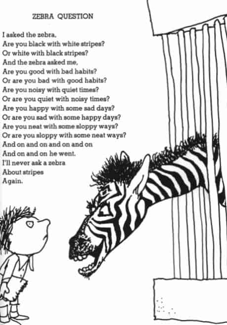 This poem from Shel Silverstein tells us to get to know others for who they are.