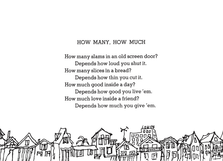 This poem from Shel Silverstein reminds us that friendships are only as good as the effort we put into them.