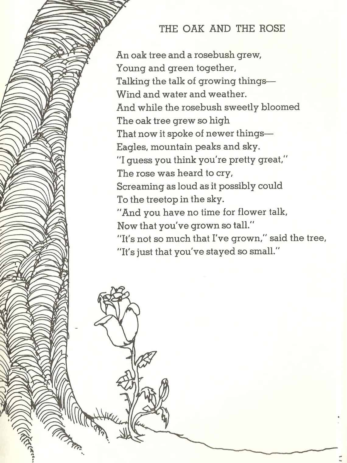 This poem from Shel Silverstein reminds us that friendships can change over time.
