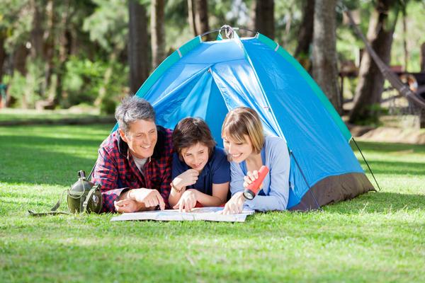staycation backyard camping