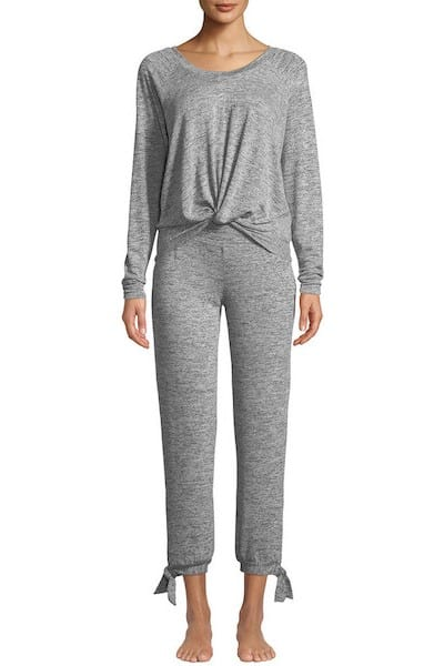 Ugg Fallon Knotted-Jersey Pajama Set from Neiman Marcus