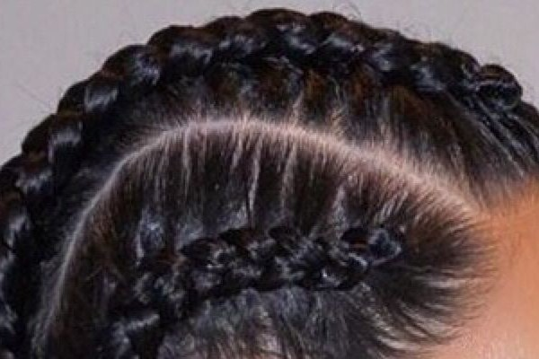 French braids in cornrow style is a trendy hairstyle.