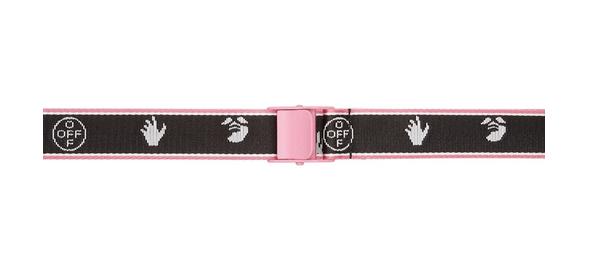Off-White Black & Pink New Logo Industrial Belt