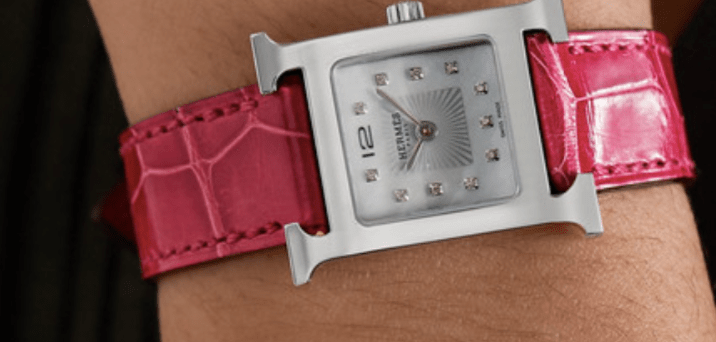 hermes red accessories watch