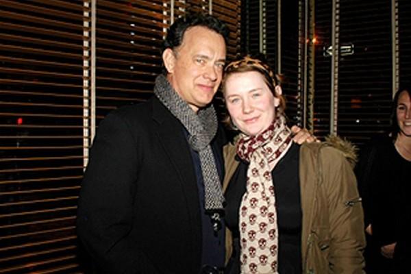 Elizabeth Hanks with Tom Hanks