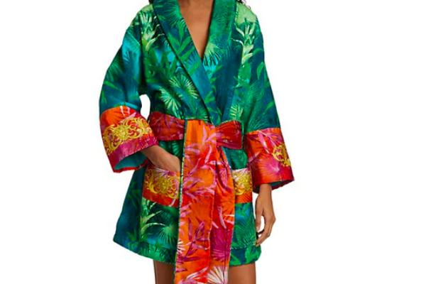 Versace robe jungle print