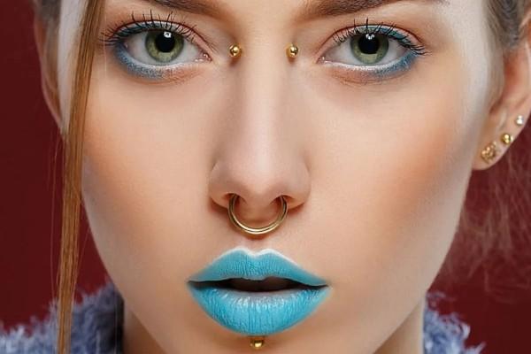 Best jewelry for nose bridge piercing.