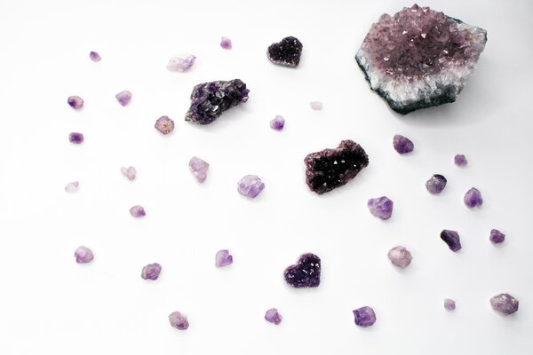 Snapshot of amethyst crystals, one of the most popular choices in crystal healing.