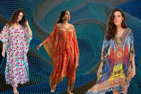 Types of kaftan dresses.