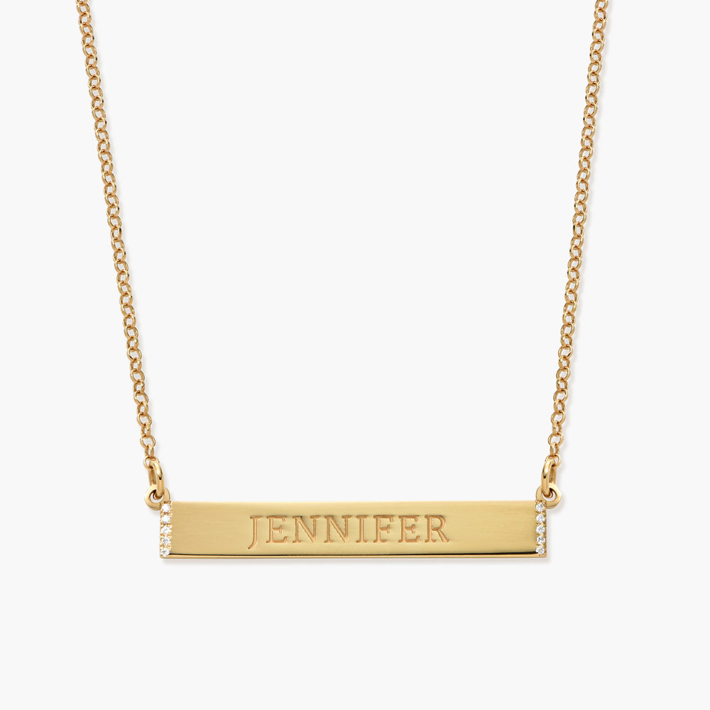 engravable bar necklace with