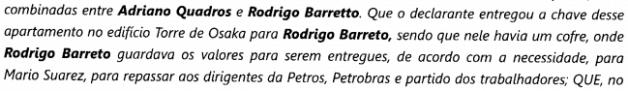 A divisão da propina na construção da torre da Petrobrás envolvendo o PT