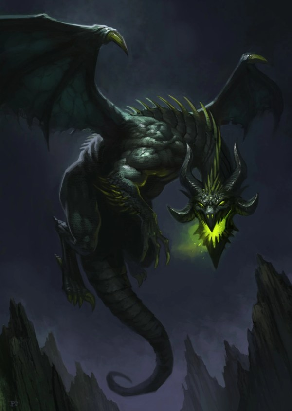 Black Dark Dragon