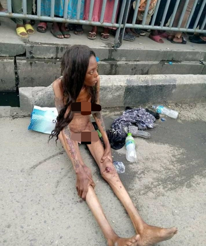 lady turns into skeleton after alighting from car