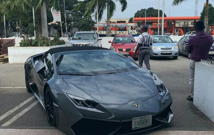 Stolen Lamborghini In Germany Found In Ghana With Nigerian Number Plate (Photos)