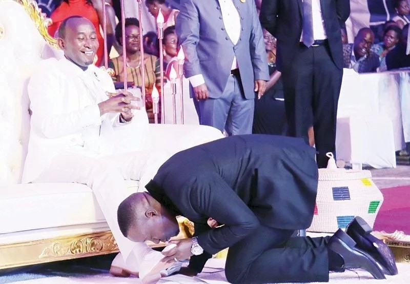 Church Members Kisses My Feet For Instant Miracles