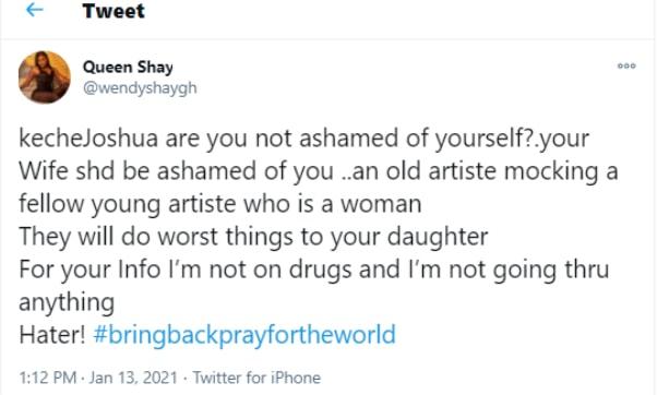 wendy shay curses keche joshua