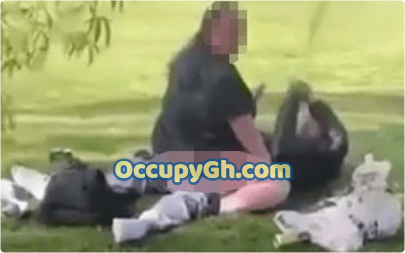 Couple Caught Chopping Park Kids