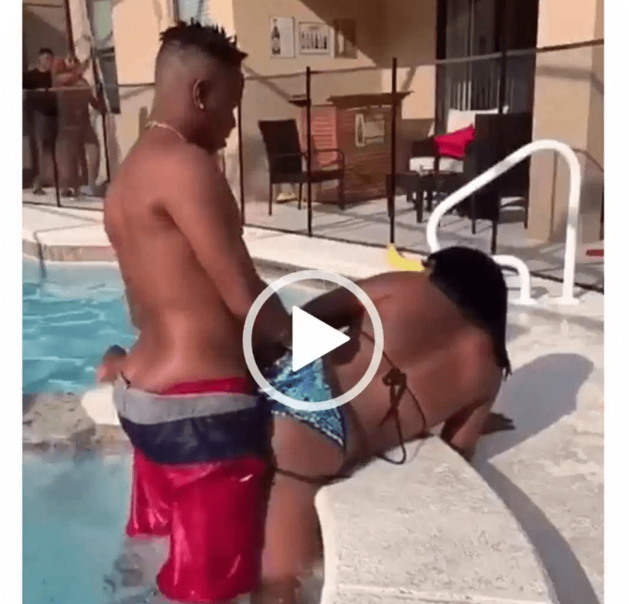 couple doing unthinkable swimming pool