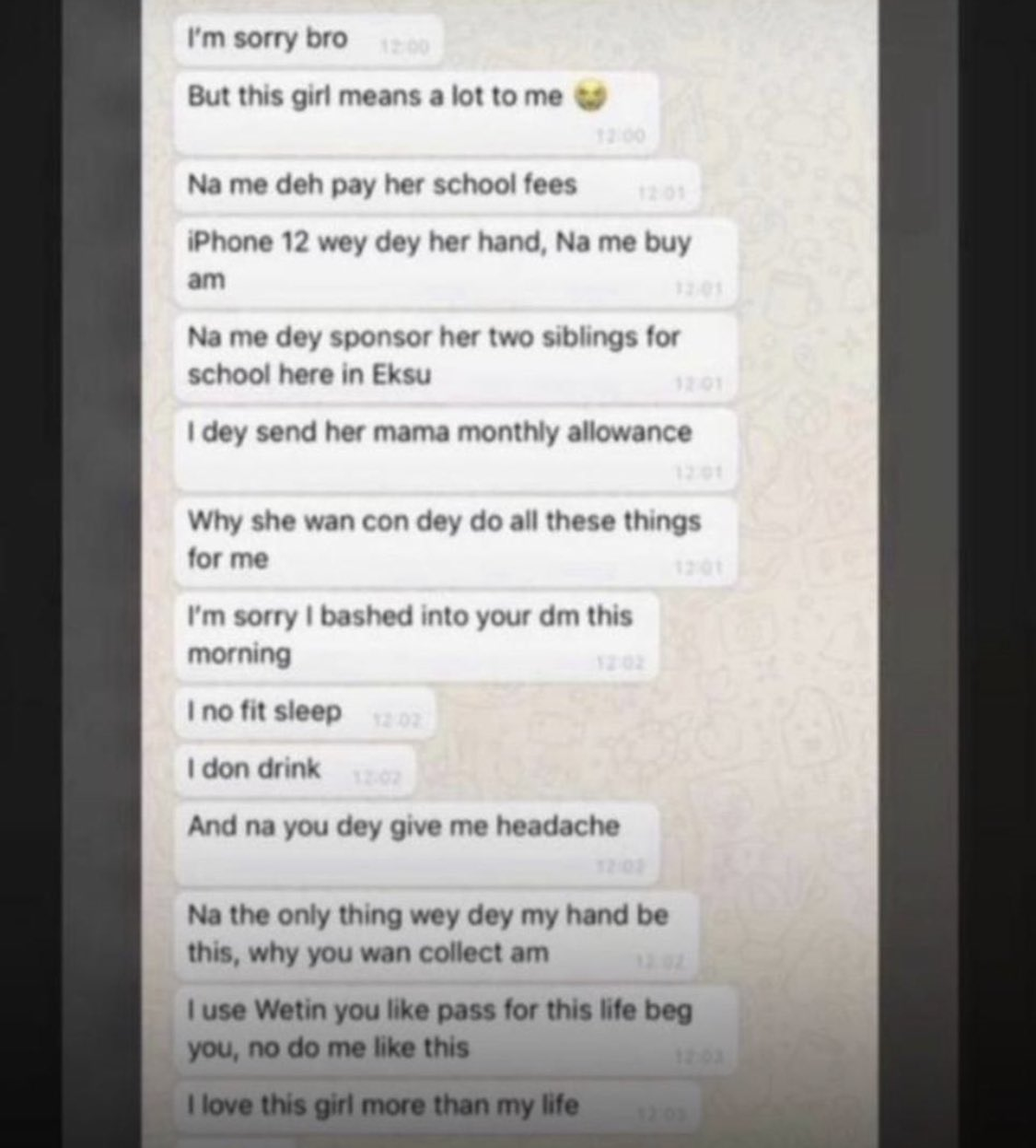 Man Begs Another Man Leave Girlfriend